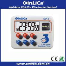 LCD-Display großer digitaler Countdown-Timer mit Wand-Stoppuhr-Funktion GP-3