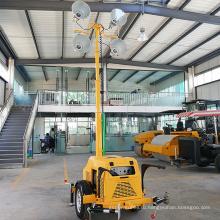 Напольная башня света потока вела трейлер бензин генератора освещая башню FZMTC-1000B