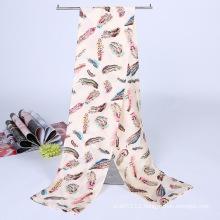 Lady Fashion Printed Satin Silk Magic Mutifunctional Collar Scarf (YKY1091-2)