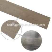 Seco piso de tablones de vinilo