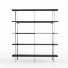 Doppeltes breites Bücherregal mit 5 Regalen