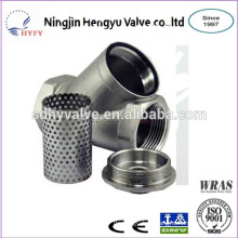 Y type stainless steel strainer with thread end