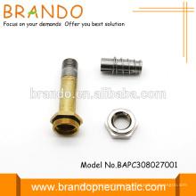 8mm Pneumatisch Normalerweise geschlossen Solenoid Anker Solenoid Armatur Rohr Magnetventil Armatur Montage AC DC
