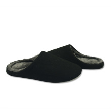 best black soft fluffy indoor slippers