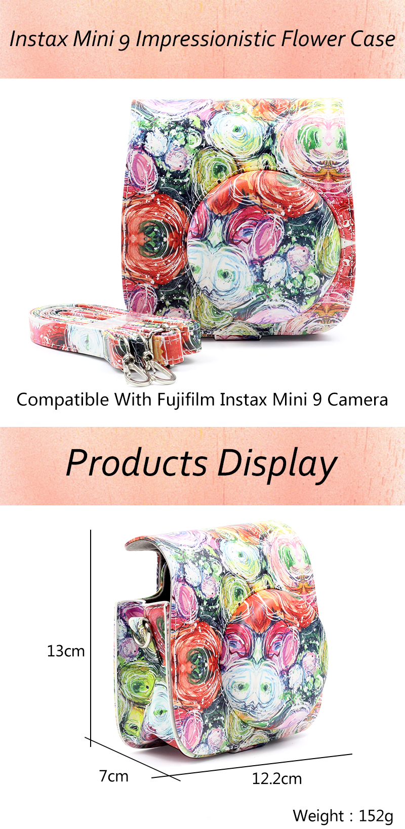 Impressionistic Flower Instax Mini 9 Case