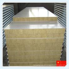 Panel de sándwich de lana de roca a prueba de fuego para pared o techo