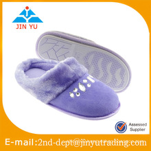 Suede slipper new design close toe with diamond for house slipper