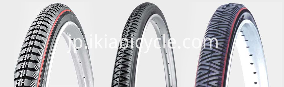 bike tire with different flower