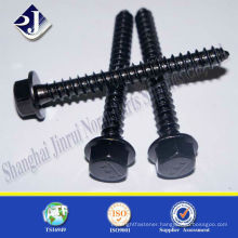 hex flange head self tapping screw black oxide