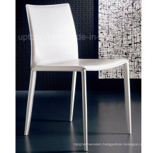 Good Quality White Stacking Commercial Leather Fine Dining Chair (SP-LC215)