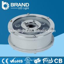 316 luz de la fuente del acero inoxidable IP68 9W LED, luz subacuática de la fuente del LED