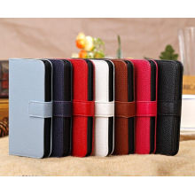 Lychee Folio Leather Iphone 5c Protective Cases For Pouch Wallet Purse Credit Card