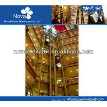 4 пассажирский панорамный лифт