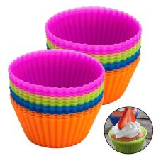 Comestível Silicone Muffin Cup 12pack