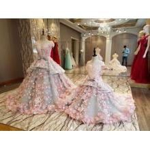 LS88349 vestidos com pedras e contas simples festa flor meninas vestidos