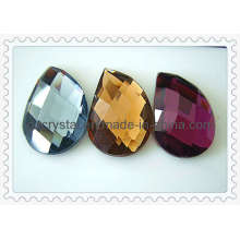 Colored Facted Glass Bead Flat Back (DZ-NEW-012)