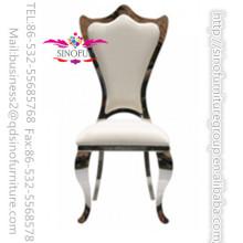 Nouvelle chaise moderne en acier inoxydable encadrée en acier inoxydable