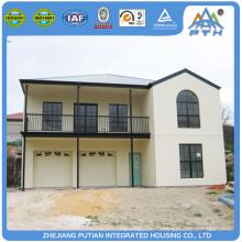 Малайзия красивый внешний вид Оцинкованная легкая стальная конструкция модульный дом