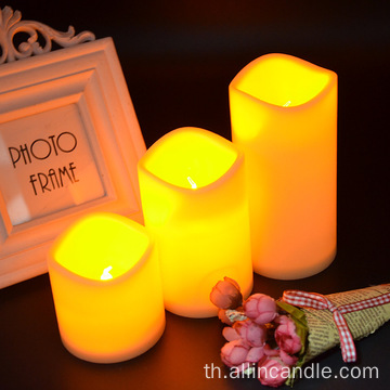 Remote plastic LED Pillar Candle