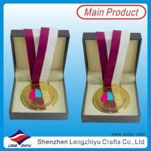 Custom Medal Box Leder Samt Holz Medaillon Münze Abzeichen Medaille Geschenkbox für Sport Medaille und Münze Badge (lzy-201300058 (10))