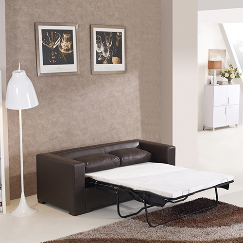 Leather Lounge Sofa Bed