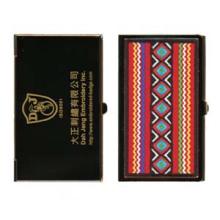 Caixa de cartão de visita bordada - banhado a ouro - arte aborígene taiwanesa