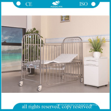 AG-CB014 Stainless steel 2 function manual cranks child pediatric hospital bed