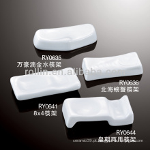 Saudável, durável, branca, porcelana, colher, Descanso