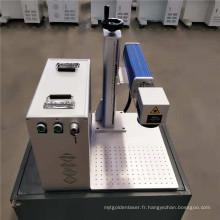 Machine d'inscription de laser de fibre de bureau pour animal familier