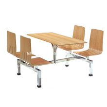 Mesa de buffet de madera de las piernas del acero inoxidable (FOH-CBC09)