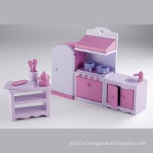 Pretend Play Игрушка Деревянная Мини Мебель Кухонная Игрушка Установить YT1123