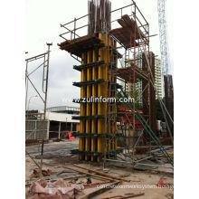 400 × 400mm Adjustable Concrete Column Formwork With Five Pins For Square Concrete Column