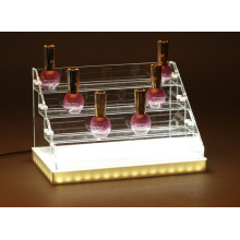 Custom Design LED Lighted Acrylic Makeup/Cosmetic Perfume Display