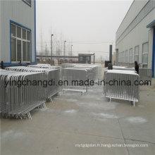 Barrière galvanisée en gros de trafic / barrière de contrôle de foule (fabricant / fournisseur de la Chine / OIN)