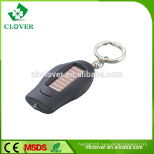 Plastic 1 led mini solar charger keychain