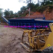 Alta eficiência madeira Debarker LC9000 único rolo modelo grande log peeling máquina