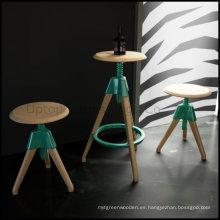 Barra de madera redonda del diseño moderno Tom y taburete de Jerry (SP-BT598)