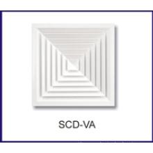 difusor de aire de techo remolino de aluminio para HVAC