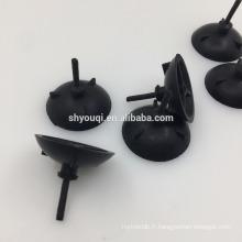 Joints de bouchons noirs en caoutchouc sur mesure