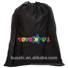bolsa con cordón negra de algodón