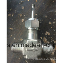 Válvula de aguja con extremo de tornillo de acero inoxidable