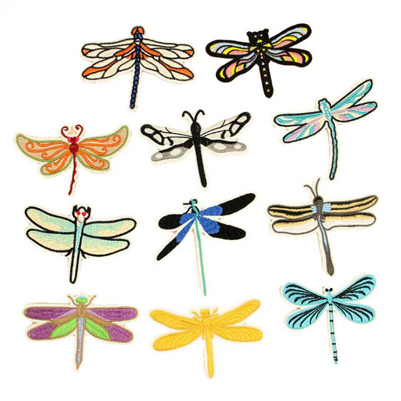 dragonfly patch embroidery