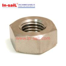 Porca do hex do ISO4032 usada com aço de liga