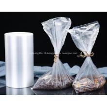 Saco de rolo de plástico transparente para embalagens de alimentos