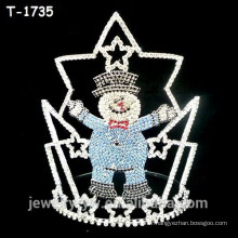 Fashion day christmas crowns with snowman coloré