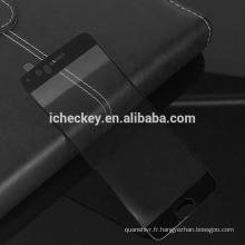 Protecteur d'écran pint en soie mobile en gros verre trempé 2.5D pour oneplus5