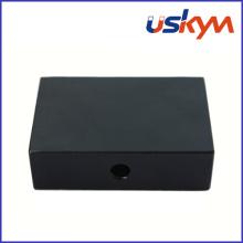 Negro epoxi recubrimiento de bloques NdFeB imanes con agujero (F-008)