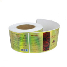Chinese Factory Custom Label Printing Machine Roll Sticker Waterproof Self-Adhesived Labels