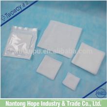 100% cotton gauze sponge sterile packing