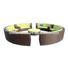 New Design Wicker Modern Outdoor Round Sofa